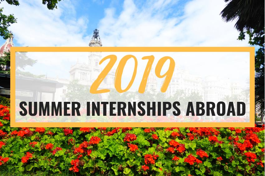 2019 Summer Internships Abroad